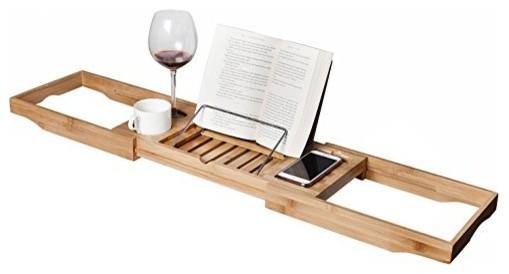 bamboo caddy expandable tray