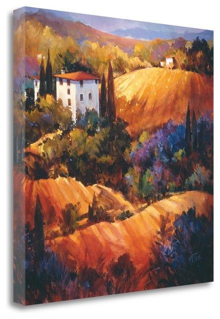 Evening Glow Tuscany By Nancy Otoole, Giclee Print On Gallery Wrap Canvas.