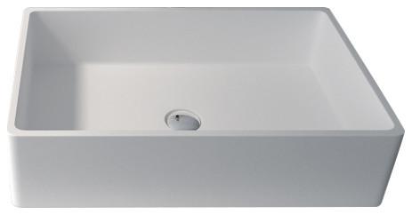 Ronan Matte Sink Bowl, White, 23.6.