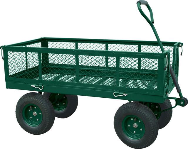 Heavy Duty Yard Wagon Contemporary Wheelbarrows And Garden Carts