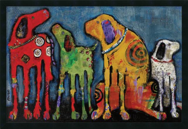 """Jenny Foster &x27;best Friends&x27; Framed Art Print 38""""x26""""."""