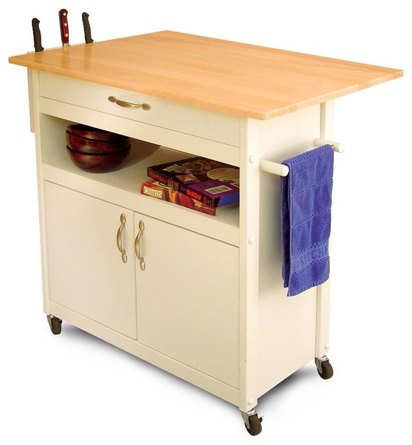 Go Home Black Industrial Kitchen Cart At Lowes Com: Wheeled Utility Cart W White Finish, Towel Ra