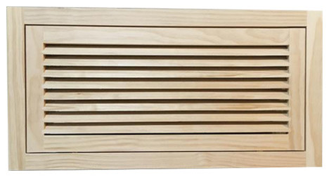 "Wood Return Air Filter Grille, 24""x12"", Standard Square Edge."
