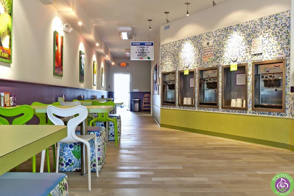 Seating and yogurt stations