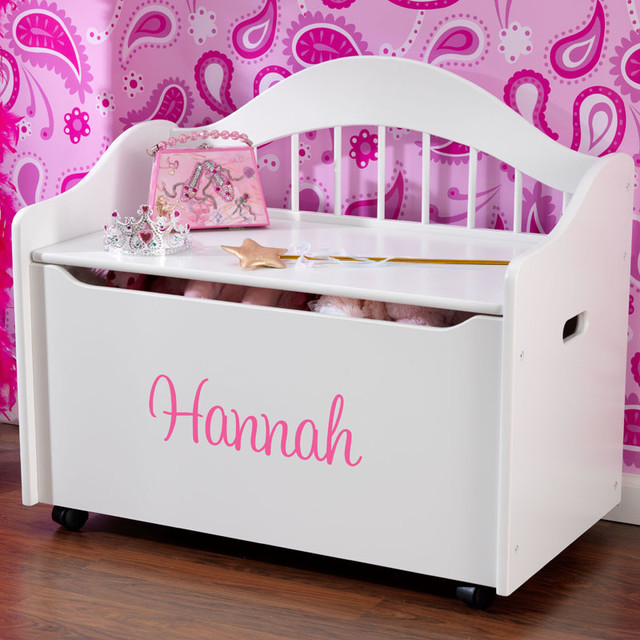 Personalized Limited Edition Toy Box White Modern