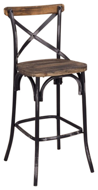Bar Chair Walnut And Antique Black Farmhouse Bar
