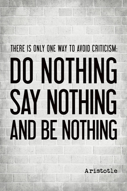 There Is Only One Way To Avoid Criticism, Aristotle Quote ...