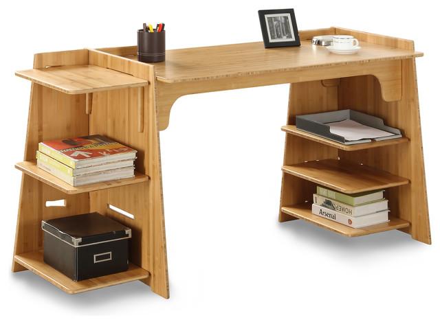 Large Convertible Craft Desk, Amber Bamboo.