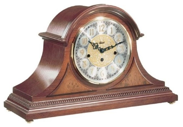 Contemporary brass mantel clocks