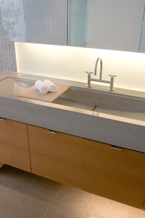Poured Concrete Sink modern bathroom