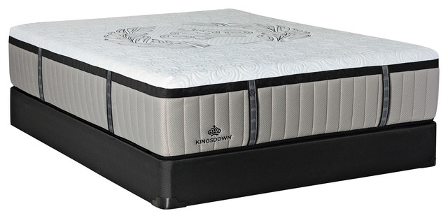 "Crown Imperial Marquis 16.5"" Full Low Profile Luxury Plush Hybrid Mattress Set."