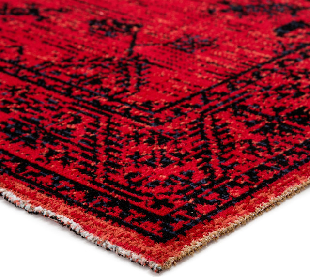 Jaipur Living Fayer Indoor/Outdoor Medallion Red/Black Rug, 5'x7'6""