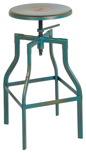 Osp Designs Eastvale 30quot Metal Barstool Antique Turquoise  : modern bar stools and counter stools from www.houzz.com size 360 x 640 jpeg 42kB