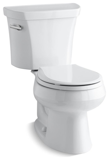 Wellworth 2-Piece Round-Front 1.6 GPF Toilet and Left-Hand Trip Lever, White