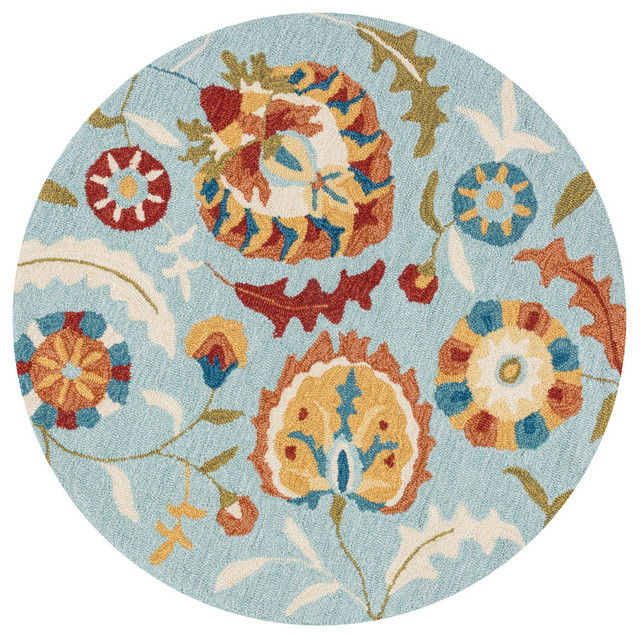 Loloi Francesca Collection Rug, Blue and Spice - Traditional - Area Rugs - by Lighting and Locks