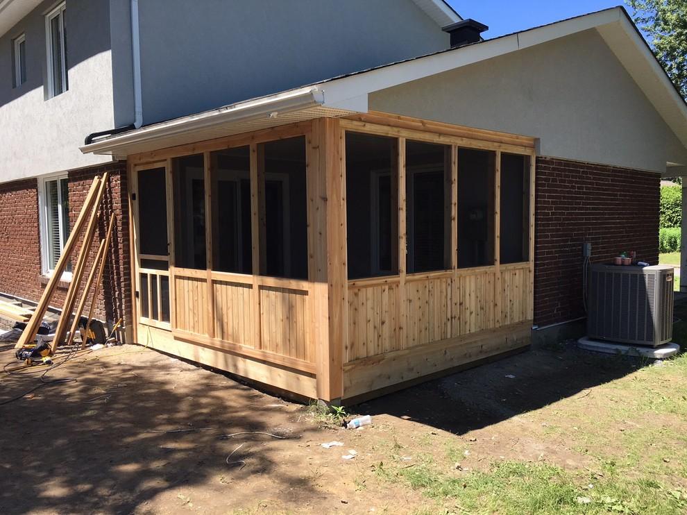 cedar screened in porch