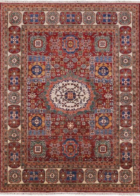 Super Kazak Handmade Oriental Wool Area Rug 5 8 X7 8 P9884 Mediterranean Area Rugs By Manhattan Rugs
