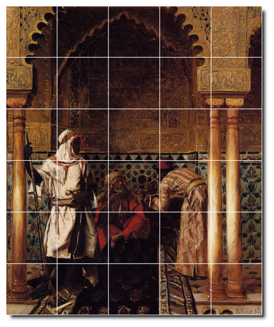 Picture tiles llc rudolf ernst historical painting for Ceramic mural painting