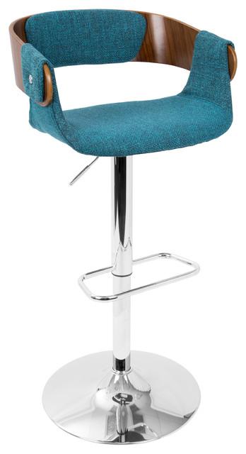Envi mid century modern adj barstool bar stools and counter stools by lumisource - Teal blue bar stools ...