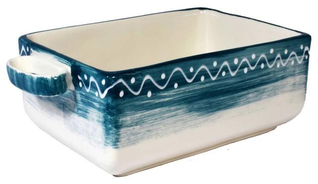 Positano High Rectangular Ceramic Baking Dish.