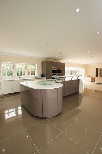 Grey Gloss Kitchen Modern Kitchen London By Lwk Kitchens London