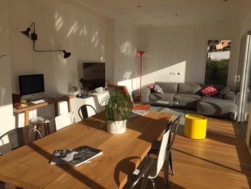 aide d co pi ce de vie lumineuse et en longueur merci. Black Bedroom Furniture Sets. Home Design Ideas