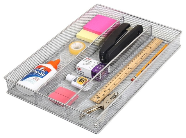 Three Part In-Drawer Utensil Flatware Organizer Tray.