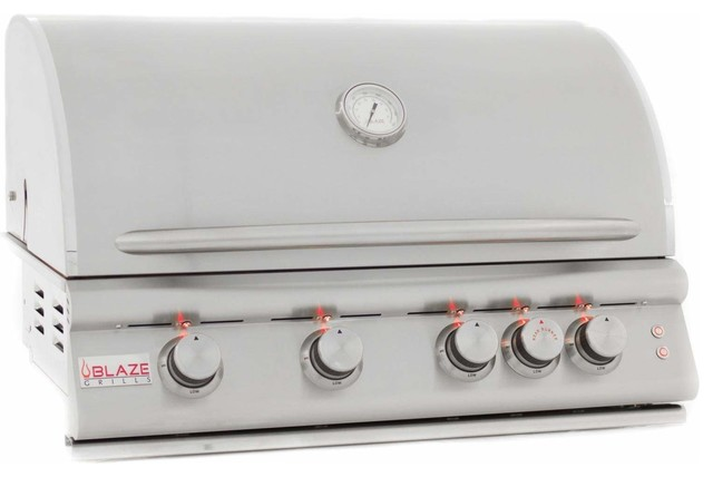 Built-In Grill With Lights, 32, Propane Gas.