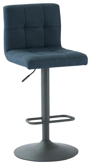 Adjustable Height Fabric Stool, Blue/gray, Set Of 2