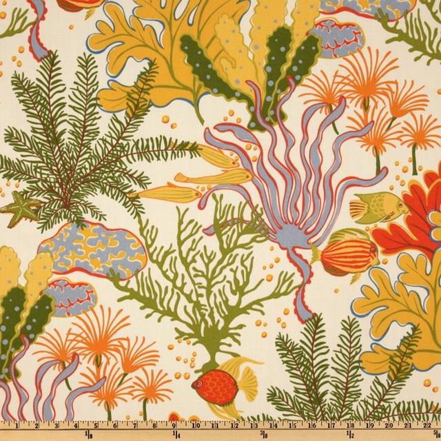 Swavelle/Mill Creek Indoor/Outdoor Splish-Splash Coral Fabric