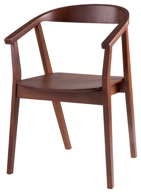 Donna Chairs, Walnut, Set Of 2.