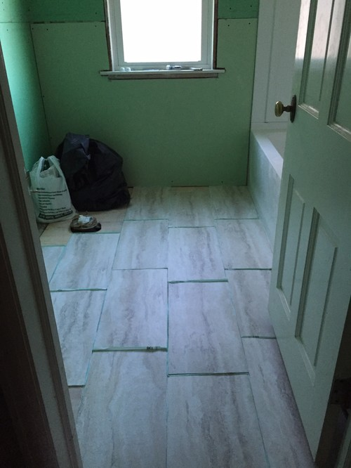 laying vinyl floor tiles in bathroom which direction should i lay the 12x24 vinyl tiles in our 25586 | home design