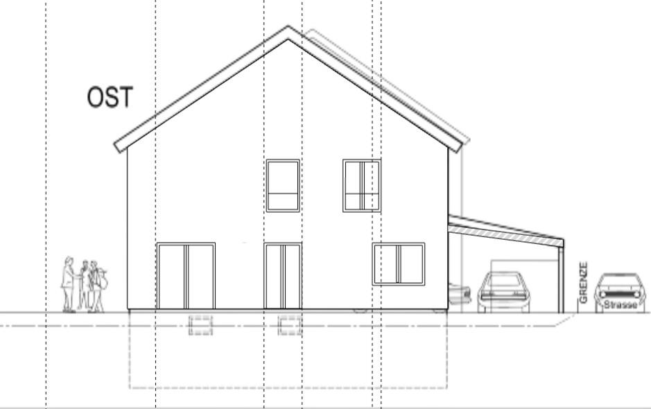 Grundrissoptimierung Neubau Ostfassade