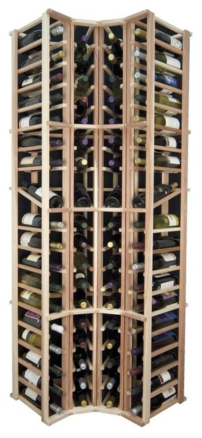 Curved Columnar Wine Rack w Display Spaces, Premium ...