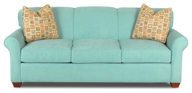 Calgary Sofa In Draft Turquoise.