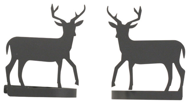 "Village Wrought Iron Set Of 2 ""deer"" Curtain Tie Backs."