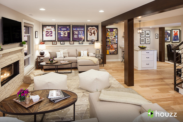 Ashton Kutcher's parents' basement traditional-basement