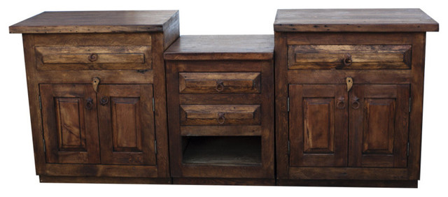 Double Sink Vanity From Reclaimed Wood Farmhouse Bathroom