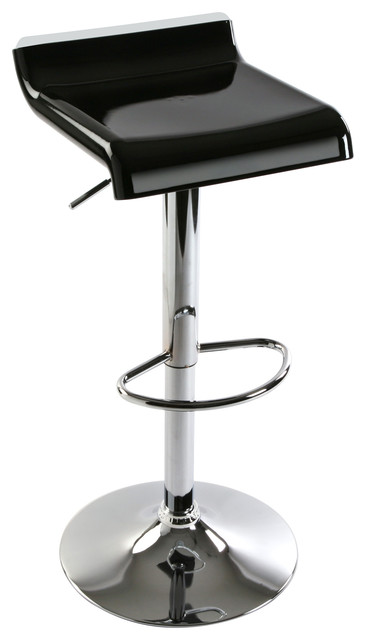 Norwich Adjustable Bar Stool, Black