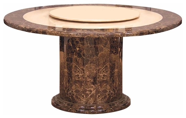 Round Marble Dining Table With Lazy Susan Contemporary