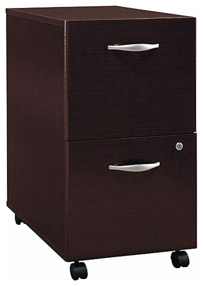 Partially Assembled Two Drawer File Cabinet w Casters, Series C - Contemporary - Filing Cabinets ...