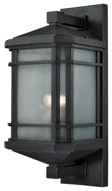 Lowell 1-Light Outdoor Sconce, Matte Black