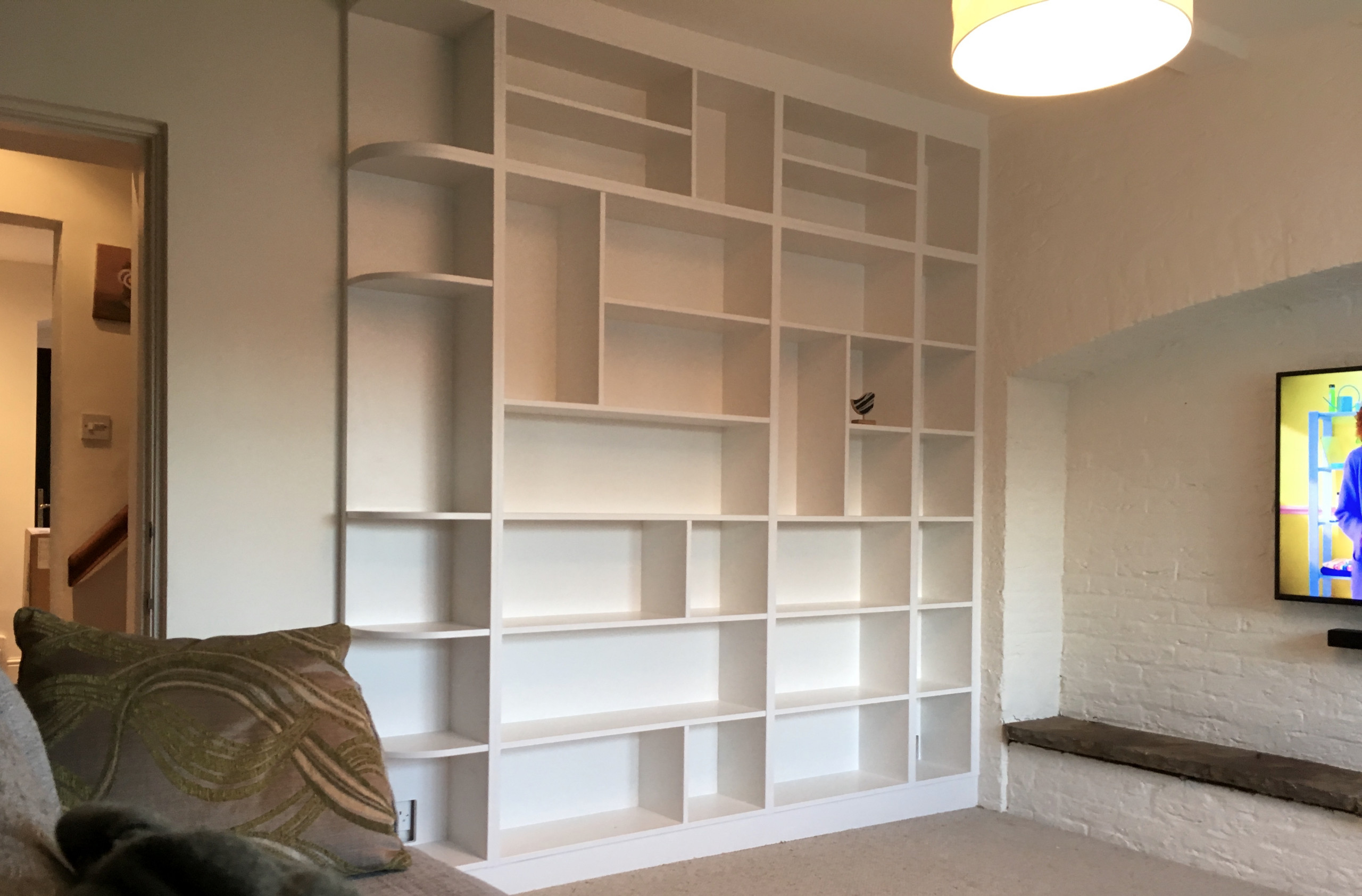 White Painted Display Shelving