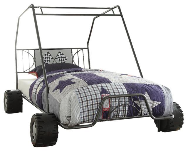 Acme Xander Twin Bed, Gunmetal Go Kart.