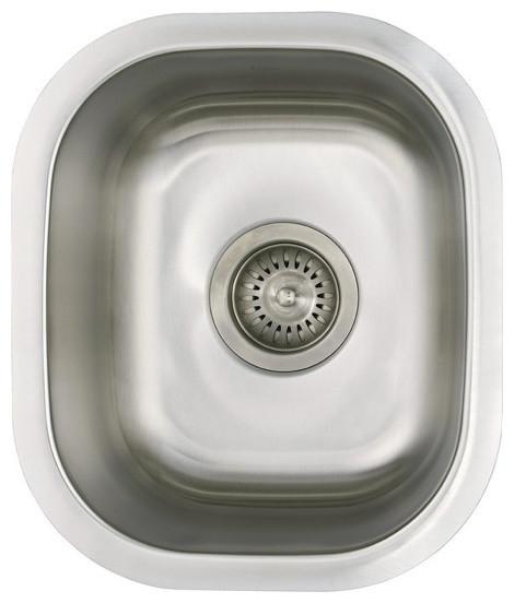 "12"" Ellis Stainless Steel Undermount Kitchen Sink Small Single Bowl, Bar, Island"
