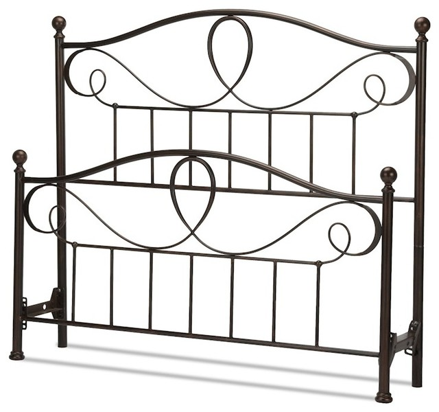 Fbg Sylvania Bed, Canopy Compatibility, French Roast, Queen, B10775.