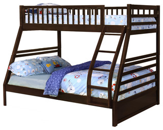Reed Bunk Bed, Espresso, Twin Over Full