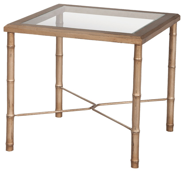 Guild Master 715010 1 Bamboo Tables 22in Champagne Gold Champagne Gold