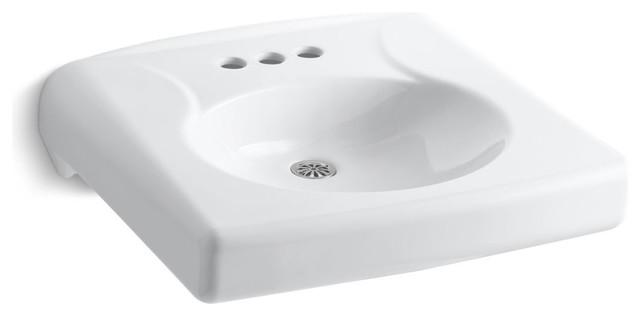 Kohler Brenham Wall Mount Lavatory Less Soap Dispenser Hole