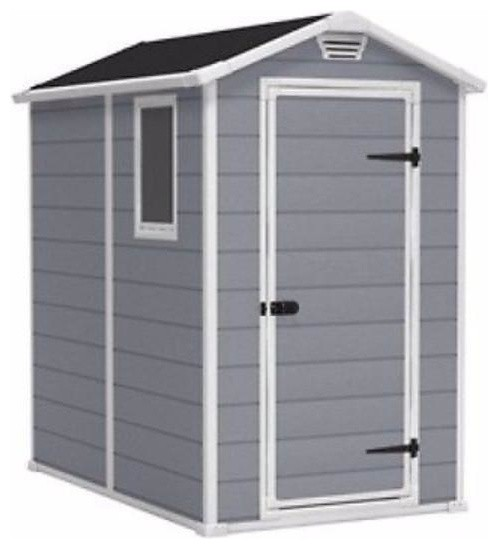 Top Ventilated Plastic Shed-Lawn, Garden And Tool Storage.